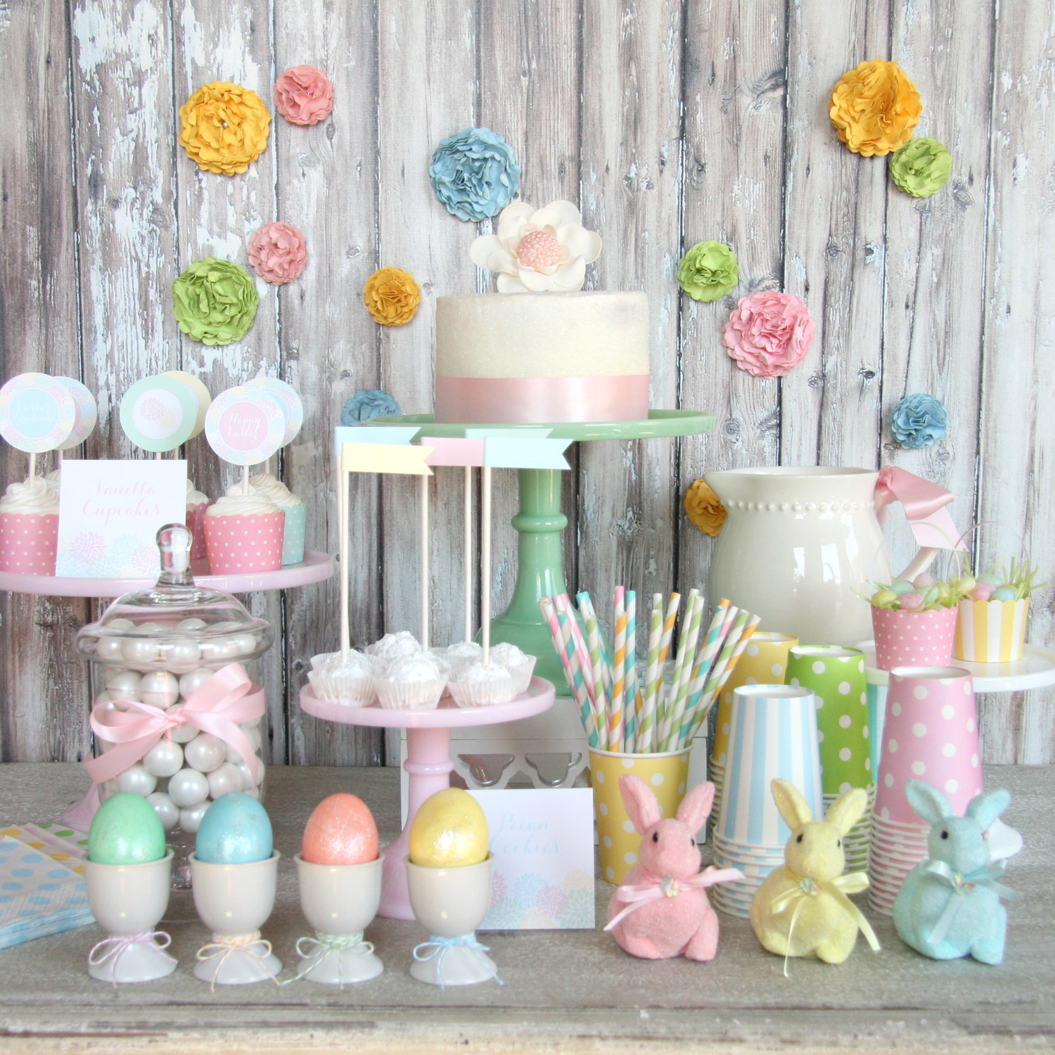 28 CUTE PASTEL EASTER DECORATIONS  Godfather Style