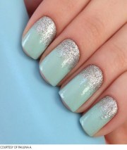 jazzy prom night nail art design