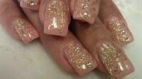 Gold Glitter Nail Designs