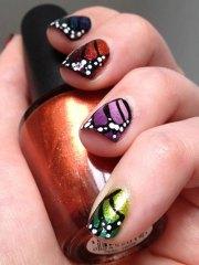 artistic butterfly nail art