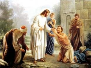 jesus and blind man