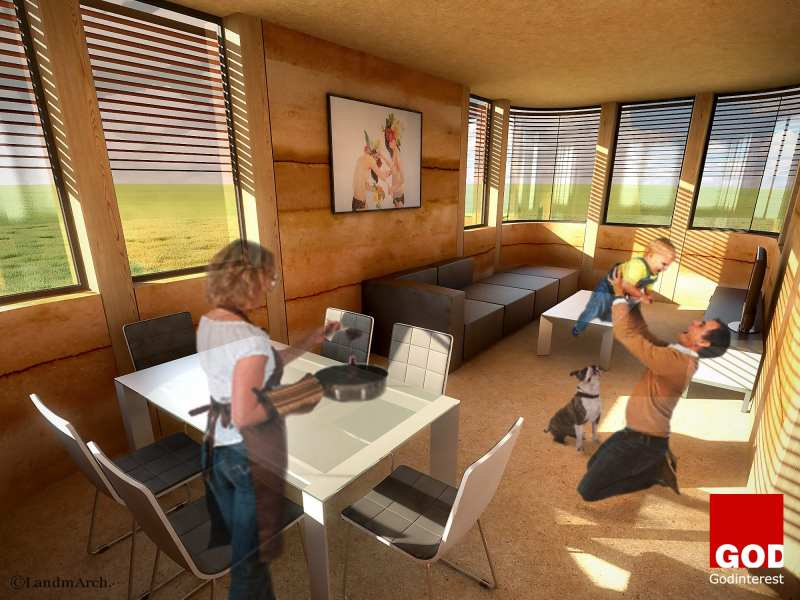 """""""Modular Eco-House System"""" in cooperation with Vita Giannini 3Ddesign by Antonis Manolessos"""