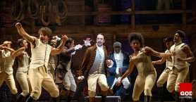 Hamilton, An American Musical, at the Richard Rodgers Theatre