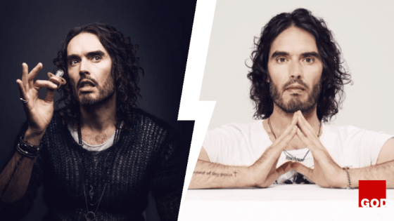 Russell Brand is talking about Jesus.