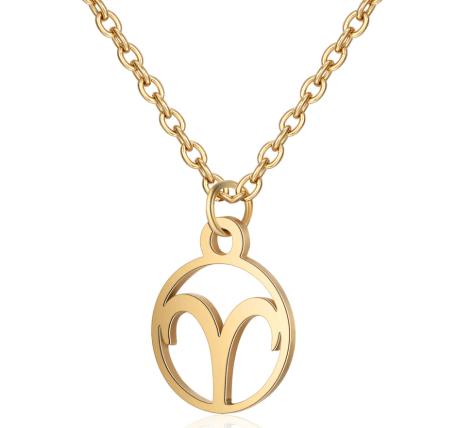 Gouden ketting sterrenbeeld Ram