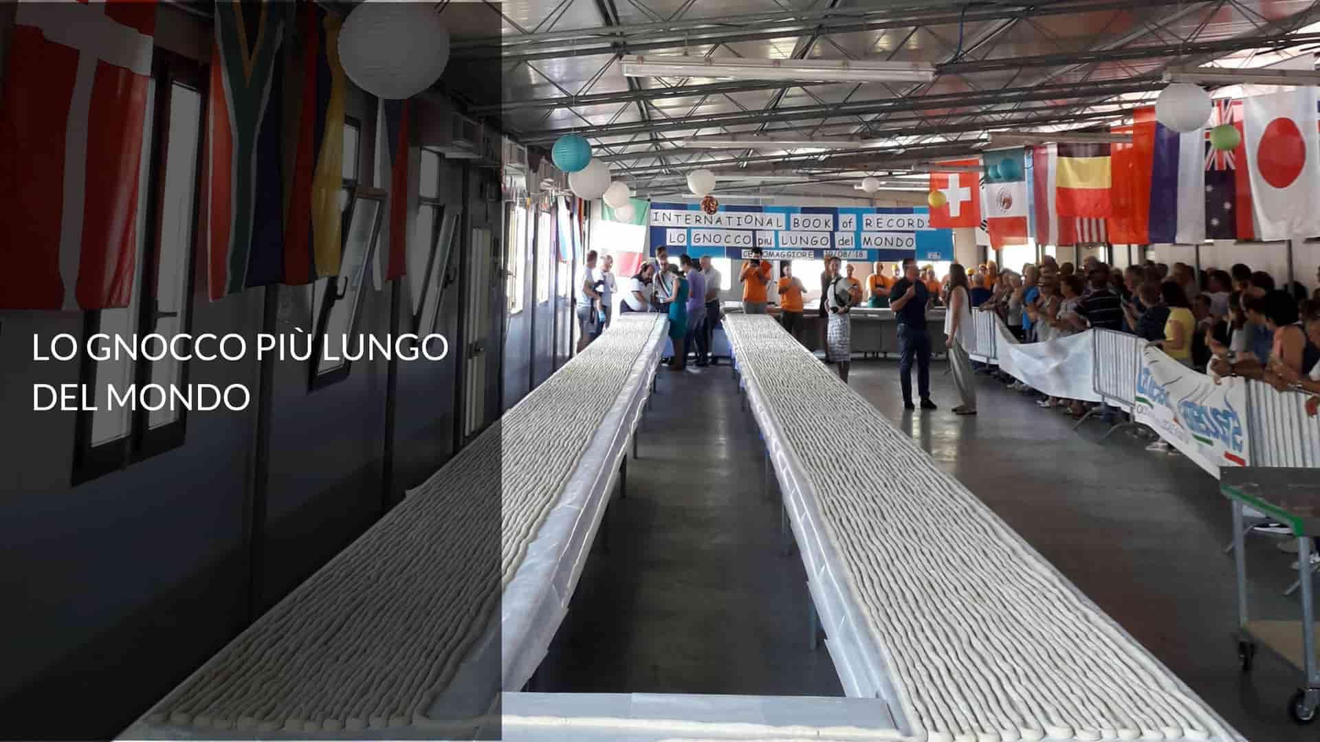 Record dello gnocco più lungo del mondo