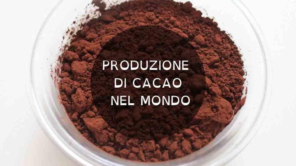la produzione di cacao