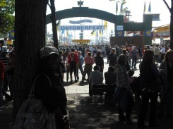 Standing at the entrance to Oktoberfest 2010