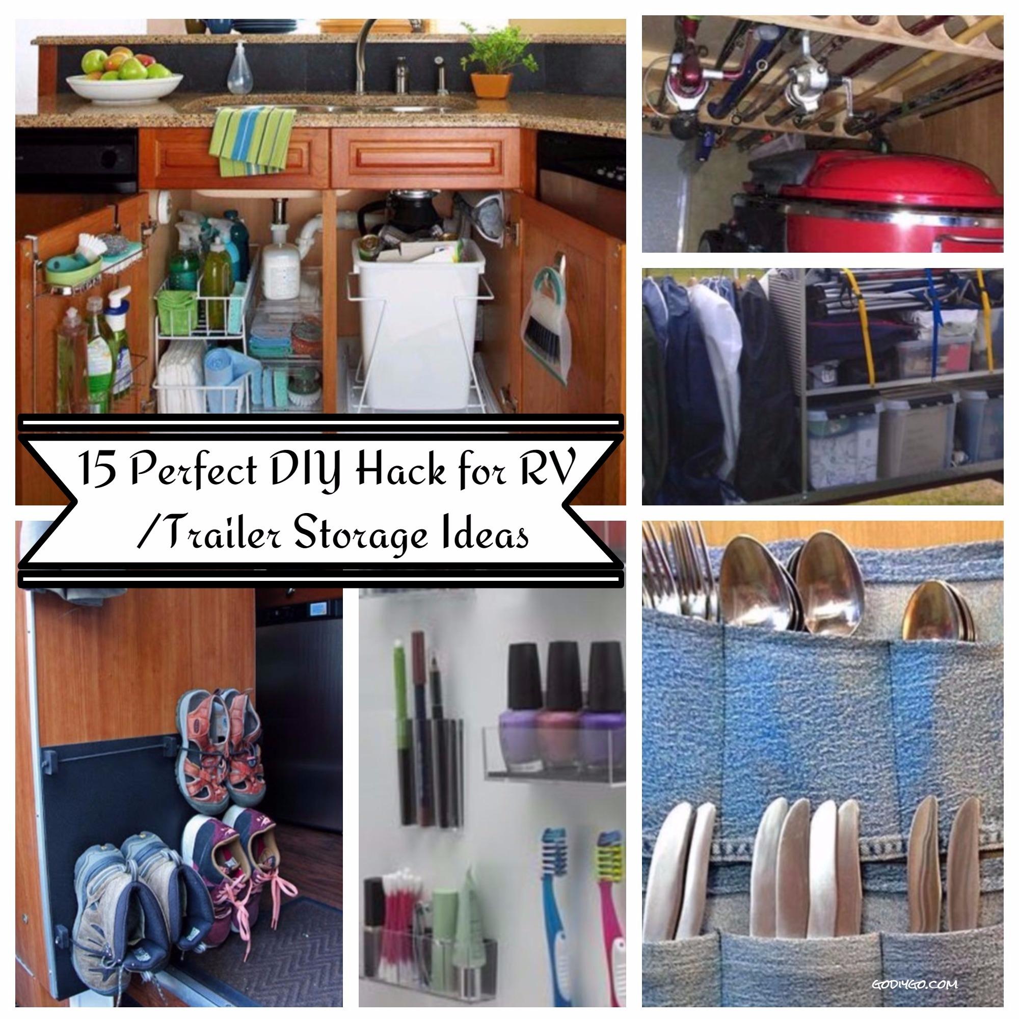 15 Perfect DIY Hack for RV Trailer Storage Ideas