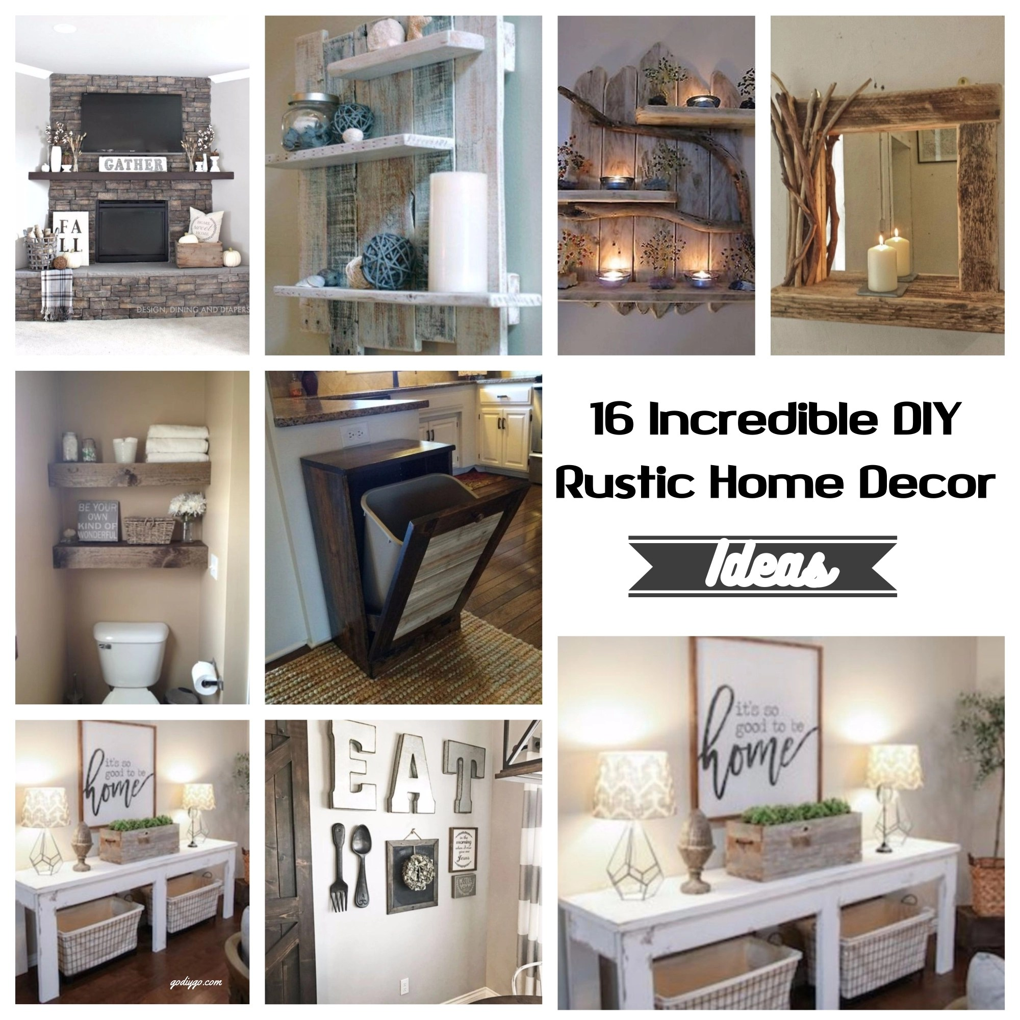16 Incredible DIY Rustic Home Decor Ideas - GODIYGO.COM