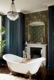 Astonishing and cozy bathrooms design ideas with fireplace 35