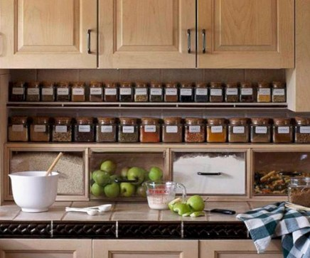 Awesome kitchen cupboard organization ideas 06