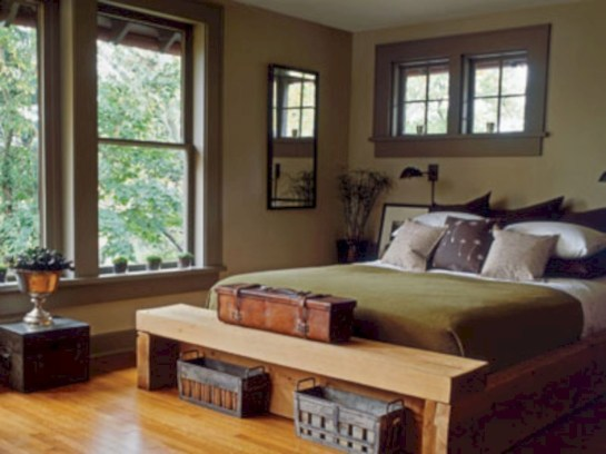 Cozy, rich and earthy bedroom tone (26)