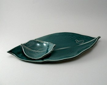 Creative diy dishes made from clay leaves 03