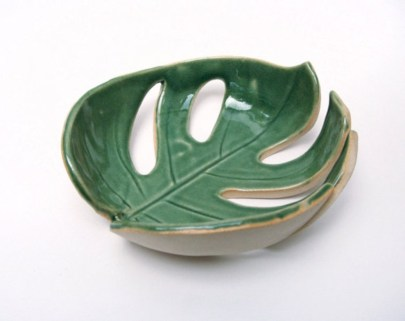 Creative diy dishes made from clay leaves 05