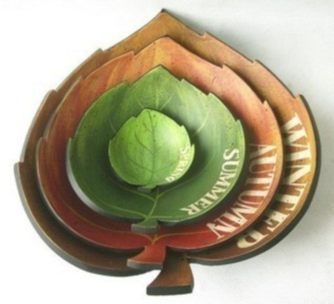 Creative diy dishes made from clay leaves 13