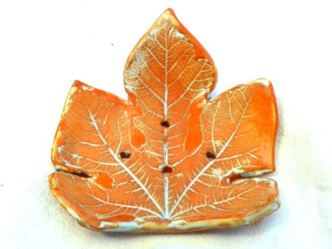 Creative diy dishes made from clay leaves 16