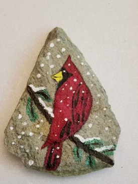 Diy cristmas painted rock design 02
