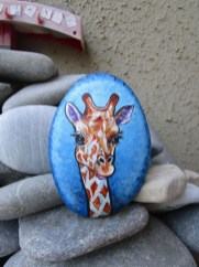 Diy cristmas painted rock design 16