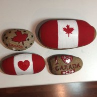 Diy cristmas painted rock design 22