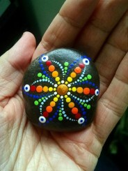 Diy cristmas painted rock design 28