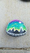 Diy cristmas painted rock design 44