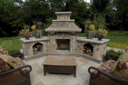 Diy outdoor fireplace and firepit ideas 02
