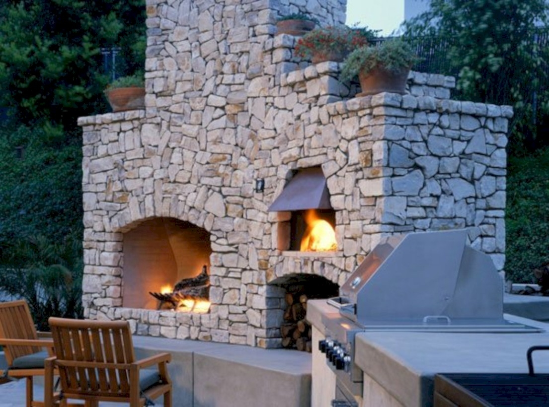 37 DIY Outdoor Fireplace and Fire pit Ideas - GODIYGO.COM on Diy Outdoor Fire id=42392