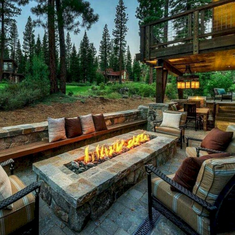 37 DIY Outdoor Fireplace and Fire pit Ideas - GODIYGO.COM on Diy Outdoor Fire id=75173