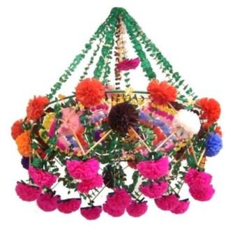 Diy polished chandelier planter 18