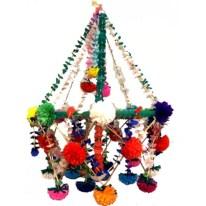 Diy polished chandelier planter 36