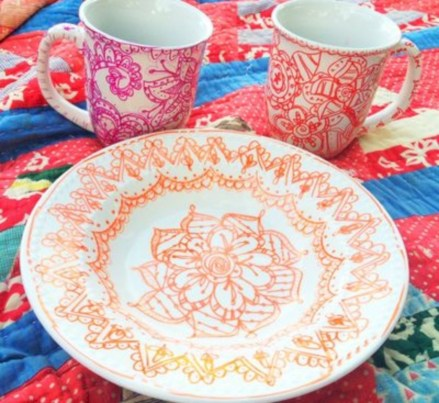 Diy sharpie dinnerware ideas 03