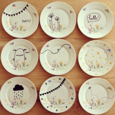 Diy sharpie dinnerware ideas 04