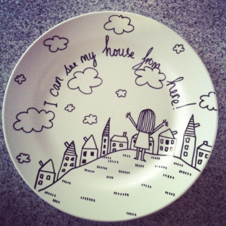 Diy sharpie dinnerware ideas 17