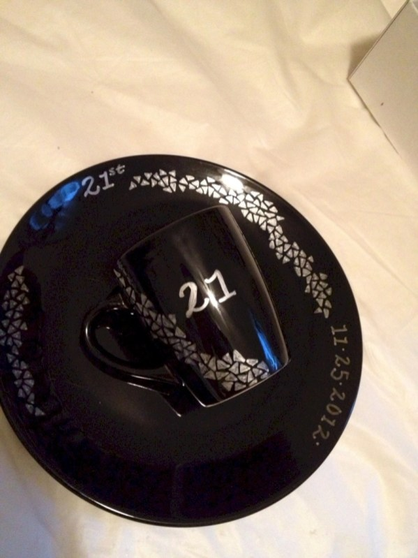 Diy sharpie dinnerware ideas 39