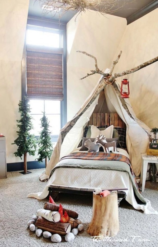 Diy create a christmas wonderland in child bedroom