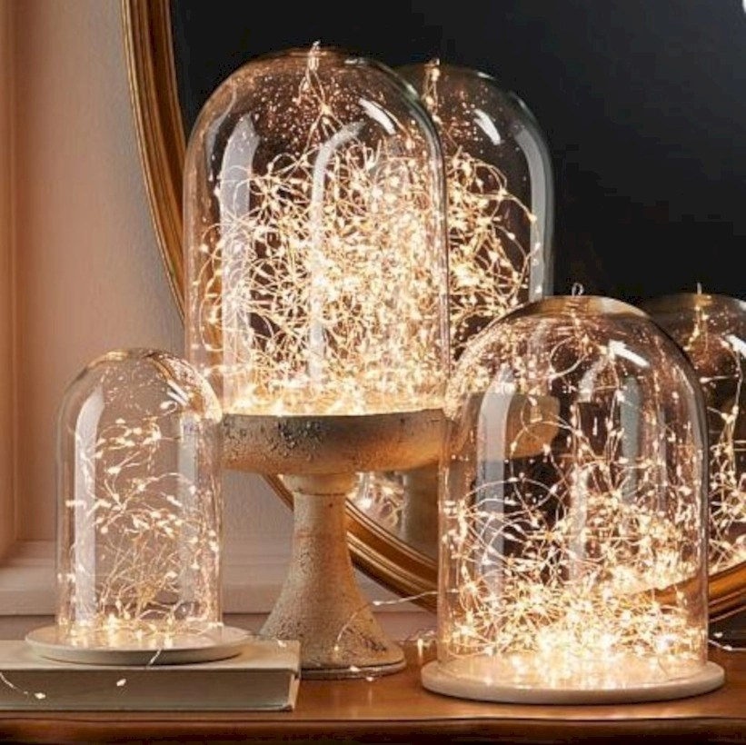 38 fairy lights ideas for holiday decorating godiygo com - Fairy light decoration ideas ...