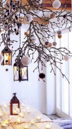 Ideas to decorate your space with candles for christmas 47