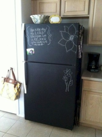 Inspiring ways to use a chalkboard paint on a kitchen 05