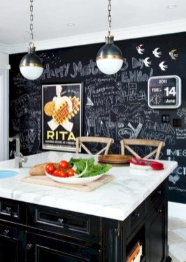 Inspiring ways to use a chalkboard paint on a kitchen 16