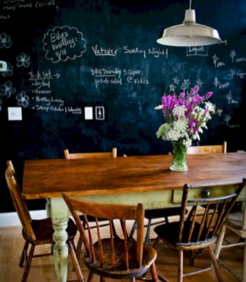Inspiring ways to use a chalkboard paint on a kitchen 17