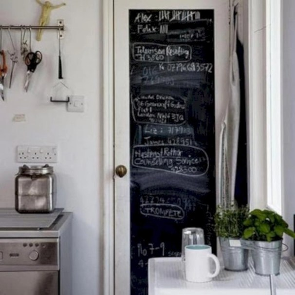 Inspiring ways to use a chalkboard paint on a kitchen 27