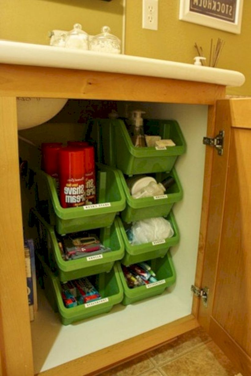 Rv camper organization and storage for travel trailers