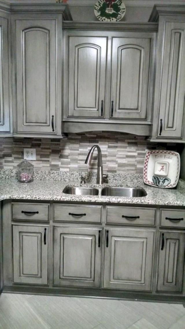 aspen grey birch kitchen cabinets instock | 15 Grey Kitchen Cabinet Makeover Ideas - GODIYGO.COM