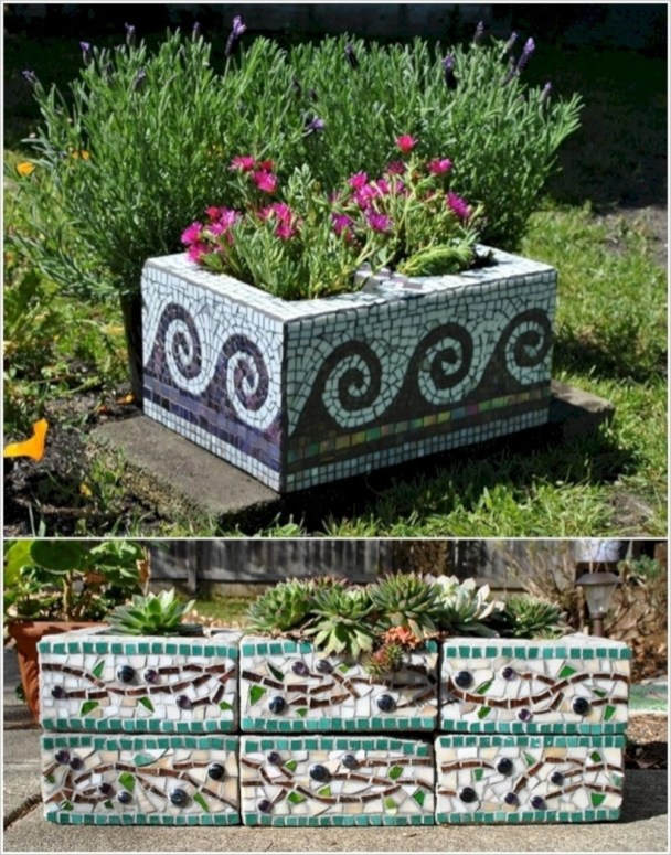 Ways to decorate your garden using cinder blocks 27