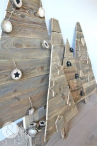 Ways to make your own christmas tree from pallet wood 23