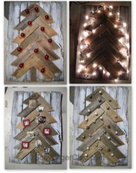 Ways to make your own christmas tree from pallet wood 30