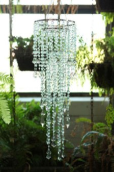 Beautiful beaded wind chime to add sparkle to the garden 02