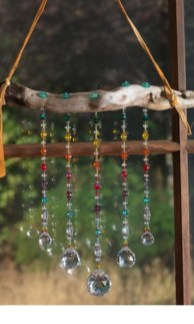 Beautiful beaded wind chime to add sparkle to the garden 10