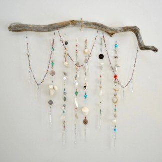 Beautiful beaded wind chime to add sparkle to the garden 12
